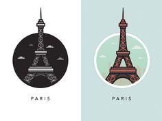 Illustration of Famous European Landmarks   Abduzeedo Design Inspiration