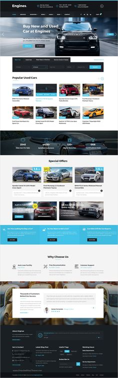 Buy Engines - Automotive, Motor Cars, Vehicle Dealership PSD Template by DesigningThemes on ThemeForest. Check it out HTML Version Introduction: Engines – Automotive,Motor Cars, Vehicle Dealership PSD Template created esp. Website Layout, Web Layout, Layout Design, Beautiful Website Design, Web Business, Screen Design, Wordpress, Web Design Inspiration, Picture Design