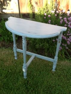 Demilune Table Painted With Milk Paint.
