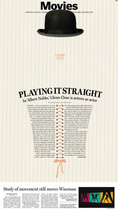 Playing it Straight #Newspaper #Design #GraphicDesign
