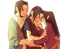 Itachi, Mikoto and Fugaku Uchiha Family. Heroes Protect From Shadows! Anime Naruto, Naruto Sasuke Sakura, Naruto Comic, Sarada Uchiha, Naruto Shippuden Sasuke, Naruto And Sasuke, Uchiha Fugaku, Sasunaru, Chibi