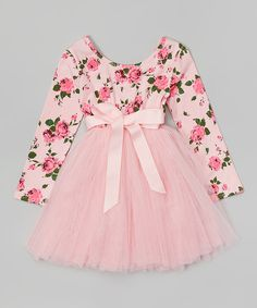 Designer Kidz Light Pink Floral Tutu Dress - Toddler & Girls by Designer Kidz Toddler Girl Dresses, Little Girl Dresses, Girls Dresses, Toddler Girls, Kids Frocks, Designer Kids Clothes, Frock Design, Cute Baby Clothes, Baby Dress