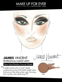 MAKE UP FOR EVER 30 Years. 30 Colors. 30 Artists. James Vincent's favorite shade I-662.