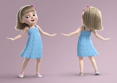 3D cartoon girl rigged - TurboSquid 1317956 Cartoon Girl Images, Girl Cartoon Characters, Cute Cartoon Girl, Cute Love Cartoons, Cartoon Girl Drawing, 3d Cartoon, Cartoon Family, 3d Street Art, Kids Artwork