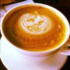Pumpkin coffee creation