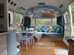 Retro Amercian Airstream caravan, Carmarthenshire, West Wales, 2011, via Flickr.