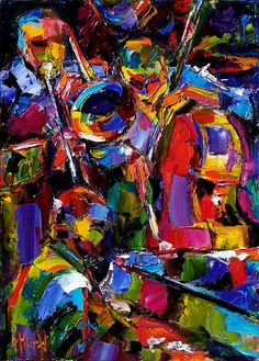 Very colorful jazz art painting