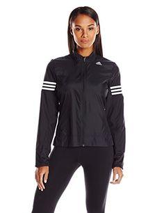 a7e6001bc606 adidas Performance Women s Response Wind Jacket, Black Wind Jacket, Disney  Tees, Wet T