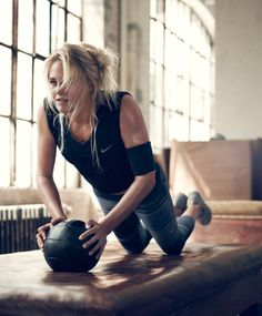 Do Push Ups with a medicine ball; work harder, strengthen your core and get fit and toned abs. Push Ups the #ExerciseoftheWeek from Get in Shape for Free.