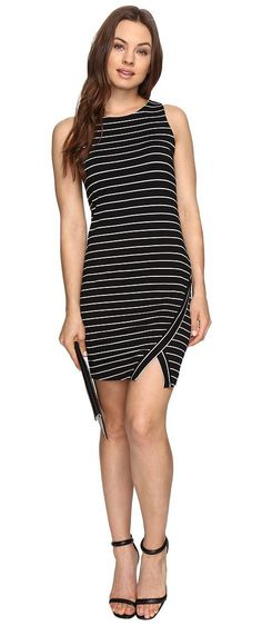 kensie Lightweight Viscose Spandex Dress and Side Slit KS6K7219 (Black Combo) Women's Dress - kensie, Lightweight Viscose Spandex Dress and Side Slit KS6K7219, KS6K7219-WHI, Apparel Top Dress, Dress, Top, Apparel, Clothes Clothing, Gift - Outfit Ideas And Street Style 2017