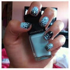 30 Amazing Dots Nail Art Ideas #Nails #NailArt blue turquoise Polka dot www.finditforweddings.com