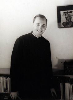 Great picture of our Holy Father Pope Francis when he was younger! <3