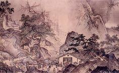 Sesshu Toyo : 雪舟 四季山水図巻(山水長巻)1巻(毛利博物館、文明18年(1486年))