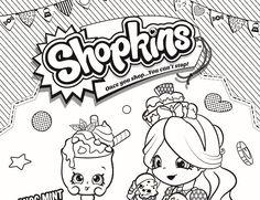 Shopkins - Coloring pages