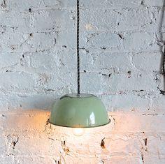 Vintage Upcycled Industrial  Enamel Light. $49.00, via Etsy.