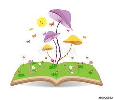 "Download the royalty-free photo ""Mushroom gardens and lawns on the book"" created by ngocdai86 at the lowest price on Fotolia.com. Browse our cheap image bank online to find the perfect stock photo for your marketing projects!"