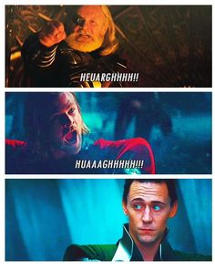 Loki's face <3 Omg! i was just watching thor yesterday with my friend and we both laughed at this part