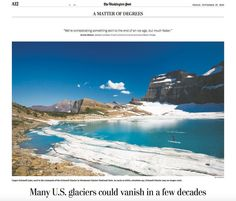 TearsheetTuesday: proud to see Tandems @donofhern in the Friday edition of the @washingtonpost with his unique glimpse of climate change from Upper Grinnell Lake next to the remnants of the Grinnell Glacier in Glacier National Park Montana.  #TeamTandem  #TheArtofAdventure by tandemstock