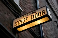 stage door sign - Google Search