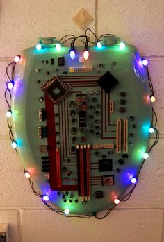 #6 - Green techie toilet seat wreath