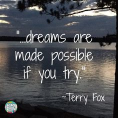 Will you be talking to young children about Terry Fox with the Marathon of Hope school walk / run happening soon? Fox Quotes, Brainy Quotes, Words Quotes, Sayings, Canada For Kids, Ontario Curriculum, Affirmations For Kids, Character Education