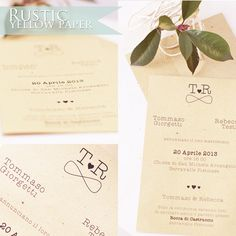 Rustic Invitation   Yellow Paper