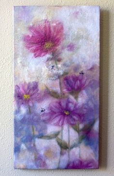 Hey, I found this really awesome Etsy listing at https://www.etsy.com/listing/165142480/original-encaustic-painting-pink-prairie