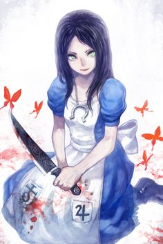 Browse more than 187 Alice: Madness Returns pictures which was collected by GOD, and make your own Anime album. Alice Liddell, Dark Alice In Wonderland, Adventures In Wonderland, Alice Madness Returns, Creepypasta Girls, Creepypasta Characters, Dark Evil, Goth Art, Cool Artwork