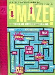 """Girl Scouts 101: Amaze Journey for Cadettes. """"It's Your World—Change It!"""" The Cadette journey is entitled """"Amaze: The Twists and Turns of Getting Along"""" and is basically about relational aggression among girls and how to deal with it."""