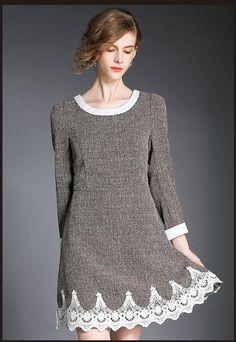 Long Sleeve Dress in Gray