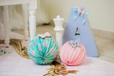 Tissue ball decorations from a Pastel Glam Alice in Wonderland Birthday Party on Kara's Party Ideas | KarasPartyIdeas.com (8)