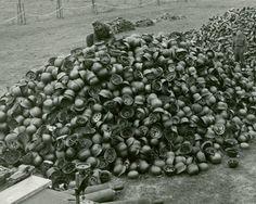A few German helmets, Hilversum.