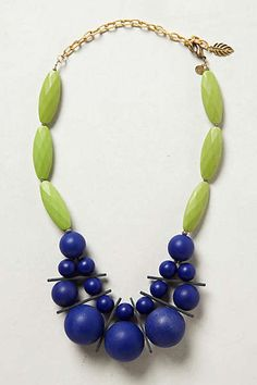 Another great purchase today...pairing with my cobalt blue dress pants! Anthropologie - Rondure Necklace