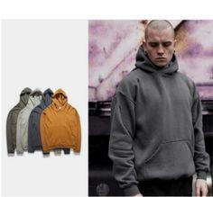 Wholesale custom fashion plain style french terry hoodies men hoodies and sweatshirts