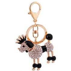 Royal Poodle Keychain