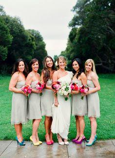 colors/bridesmaids/shoes/rainbow/arcoiris/zapatos/damas/novia/bride/www.joyfulevents.com.mx