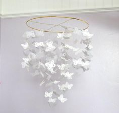 DIY Handmade Butterfly Chandelier Or Baby Mobile