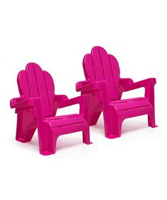 Another great find on #zulily! Pink Adirondack Chair - Set of Two #zulilyfinds