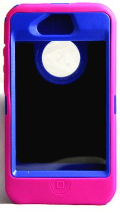 OtterBox iPhone 4 4S  Hot  Pink / Blue defender series  Case Only New