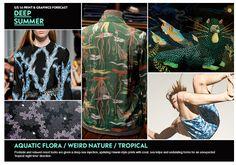 S/S 16 Print & Graphics Forecast: Deep Summer Trends 2015 2016, Summer 2016 Trends, 2016 Fashion Trends, Spring Summer 2016, Trend Forecasting, Fashion Forecasting, Deep, Flora, Aqua
