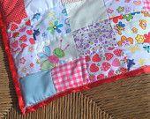 Pretty patch cot, crib or pram blanket