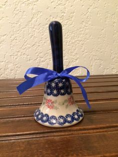 Polish Pottery Bell / Christmas Ornament by MimisMiniMarketplace