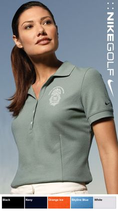 Nike Golf Embroidered Pique Polo For Women $38.98