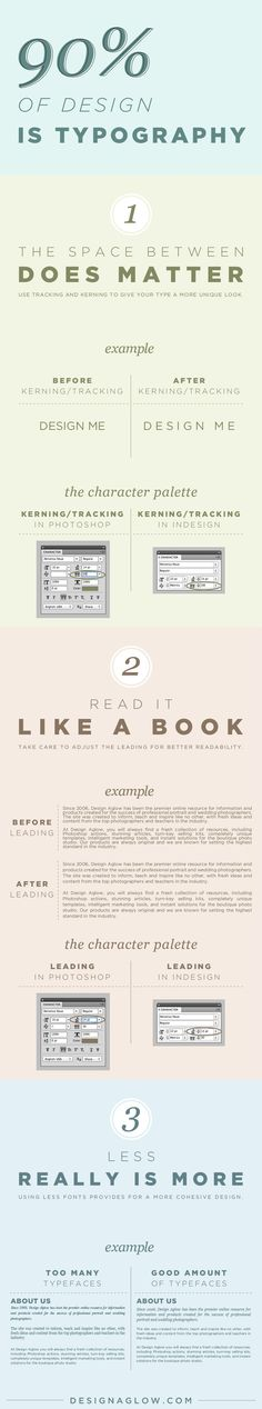 Some good examples of poor vs. good layout of content. 90% of design is typography [infographic]