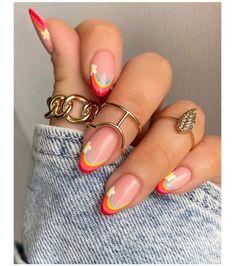 Nail Art Cute, Cute Acrylic Nails, Cute Nails, Gel Nails, Nail Design Stiletto, Nail Design Glitter, Nails Design, Stylish Nails, Trendy Nails