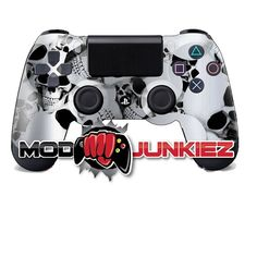 Hydro Dipped Silver Skulls PS4 Dual Shock 4 Controller