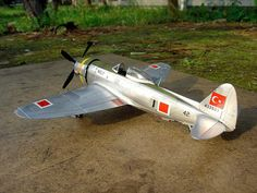 P-47D in post WW2 Turkish Air Force service 1/72. Ww2, Air Force, Skateboard, Fighter Jets, Aircraft, Models, Vehicles, Skateboarding, Aviation