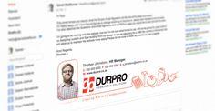 Durpro Email Signature