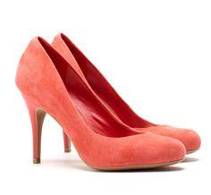 Blake mid heel pump in coral -50