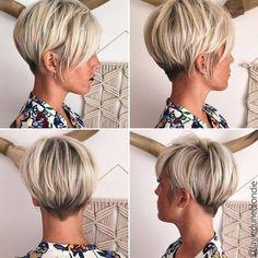 2018 Kurze Frisur - Frisuren Stil Haar - Manue dsz - - New Hair Style Hair 2018, New Hair Colors, Great Hair, Pixies, Hair Today, Hair Dos, Fine Hair, Short Hair Cuts, Pixie Cuts